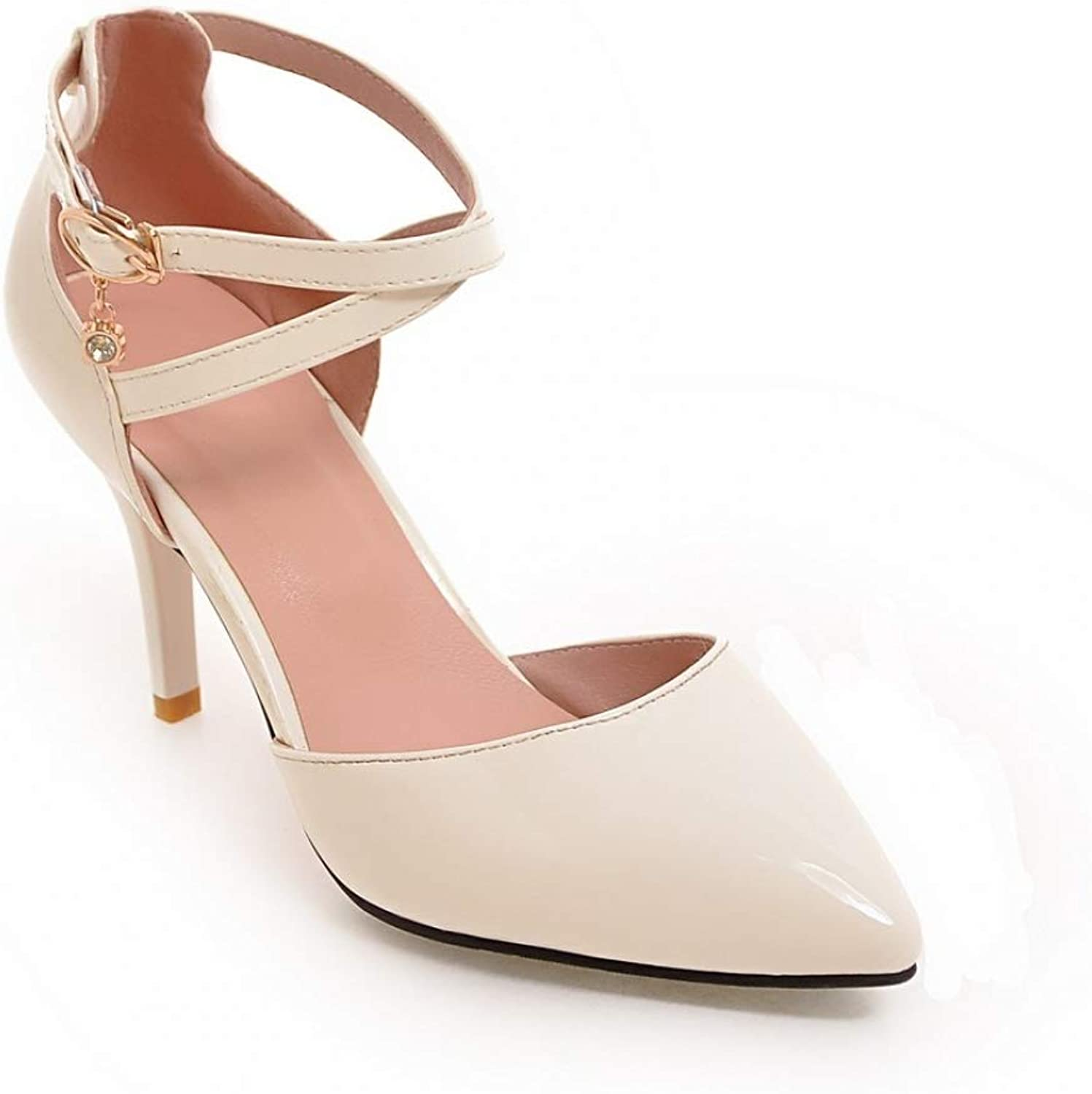 Women Thin High Heels Sandal Summer Shallow Ankle Buckle Wedding shoes Elegant Ladies Sandals