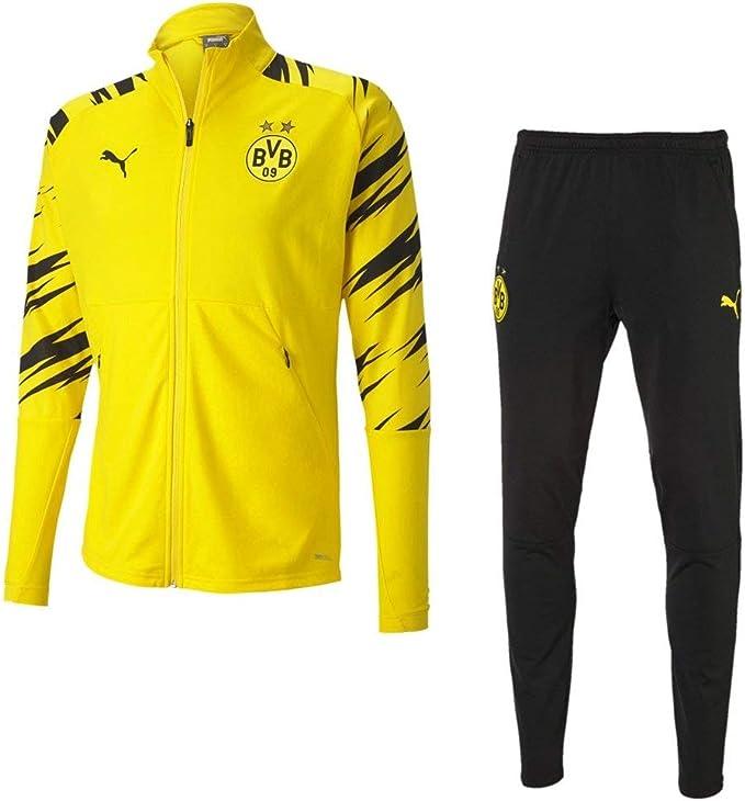 PUMA Borussia Dortmund - Tuta da riscaldamento da uomo, colore giallo e nero