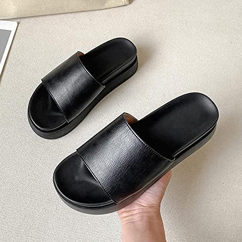 Flip Flop per Adulti,Cari Sandali pelati, Sandali di Grossa Misura di Grandi Dimensioni-Nero_35,Beach Flip Flops