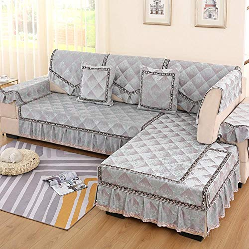 eaodz Elastic Sofa Cover, Classic Pattern, Spandex Sofa Cover for Wearable Widen 120Cm*180+3 Lace