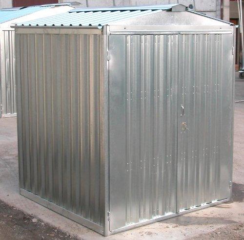 sapil Box casetta in lamiera zincata con Struttura in Acciaio zincato mt. 2,54x2,60x2,11 h con Porta a Due Ante MOD. SAPILBOX