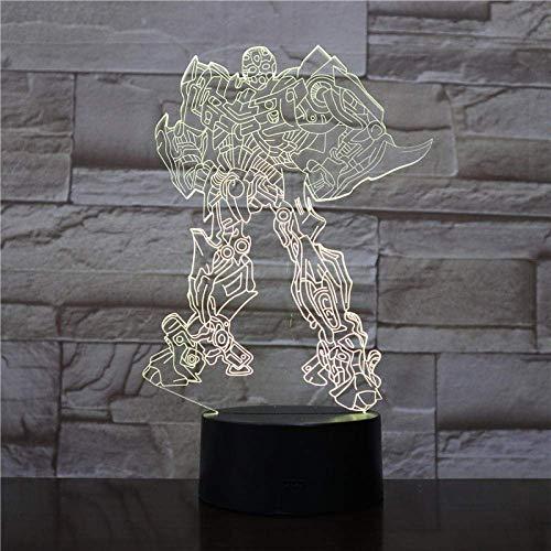 LBMTFFFFFF Lámpara Luz de Noche Lámpara de Ilusión 3D Luz de Noche Led Control Remoto Visual Lámpara de Mesa de Cambio de 7 Colores