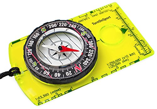 Best orienteering compass - Orienteering Compass - Hiking Backpacking Compass - Advanced Scout Compass for Camping and Navigation - Boy Scout Compass for Kids - Professional Field Compass for Map Reading - Best Survival Gifts