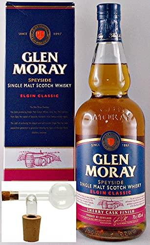 Glen Moray sherry cask Single Malt Whisky + Glaskugelportionierer
