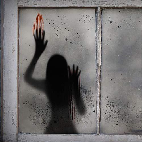 Hunpta @ Halloween Deko Wandaufkleber Horror Frauen Schatten Selbstklebende Wandtattoos Wohnzimmer Schlafzimmer Wand Fenster Party Dekoration