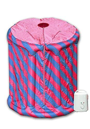 La sauna mobile a vapore – Minisauna Svedana rosa/blu generatore di vapore gonfiabile con 850 W e 1,5 litri