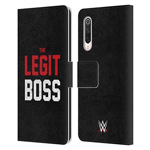 Officiële WWE De legit baas Sasha Banken Lederen Book Portemonnee Cover Compatibel voor Xiaomi Mi 9 Pro / 5G