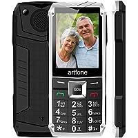 Artfone Teléfonos Móviles para Mayores con Teclas Grandes,Senior Moviles para Libres,Fácil de Usar Celular para Ancianos con Botón Sos (Metal)