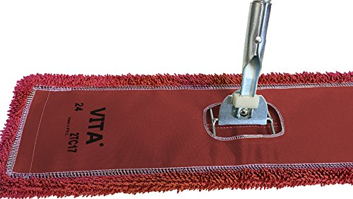 48' Microfiber Dust Mop Kit: (1) Highest Quality Red Microfiber Dust Mop, (1) Dust Mop Frame & (1) Ergonomic Dust Mop Handle
