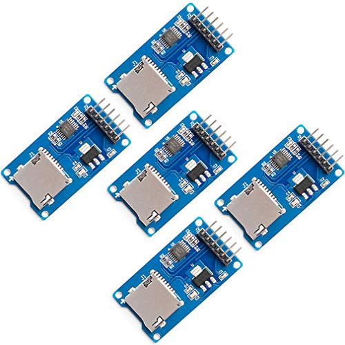 5pcs Micro SD TF Card Adater Reader Module 6Pin SPI Interface Driver Module with chip Level Conversion for Arduino UNO R3 MEGA 2560 Due