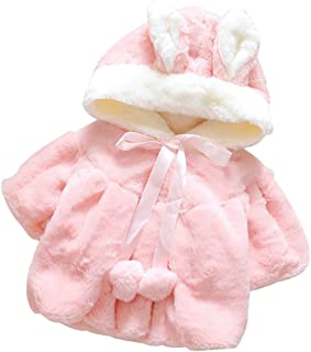 Fairy Baby Toddler Baby Girls Winter Thick Outwear Cute Bunny Fleece Jacket Outfit