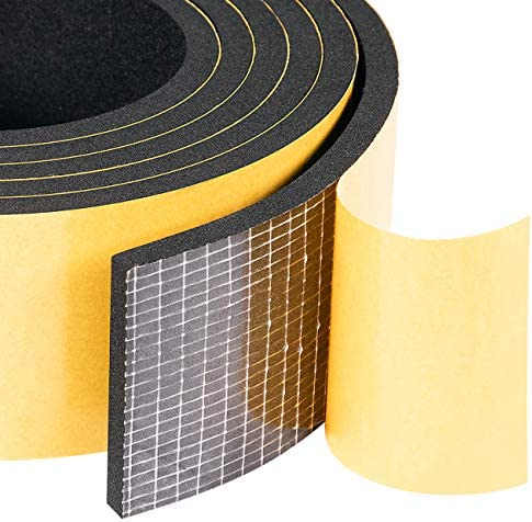 Yotache High Density Adhesive Foam Seal Tape 2 in One Roll 2 W X 1 4 T Weather Strip Insulation product image