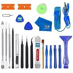 MMOBIEL Kit d'outils Professionnel 23 en 1 Compatible avec Réparation d'appareils électroniques (Smartphones Tablettes PC)