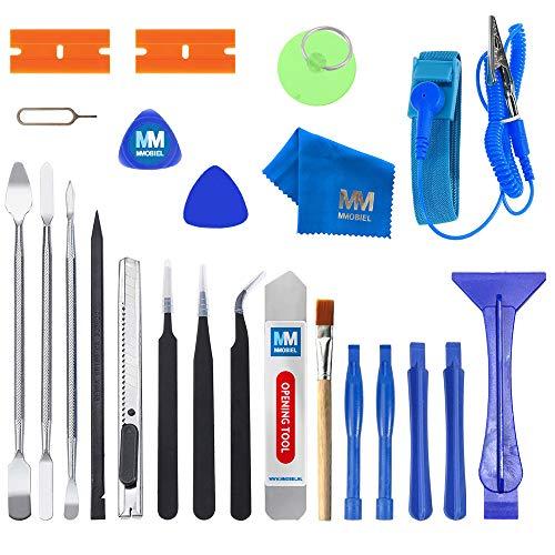 MMOBIEL 23 in 1 Professionelles Premium Reparatur Öffnungs Werkzeug Set Inkl. Antistatischem Armband