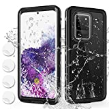 PLESON Samsung Galaxy S20 Ultra Waterproof Case with Built-in Screen Protector, [IP68] Full Body Protection Underwater Shockproof Snowproof Rugged Anti-Drop Protective Galaxy S20 Ultra Case, Clear 6.9