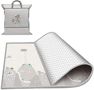 Tapete de juego para bebés Takefuns, portátil, impermeable, reversible, plástico LDPE, plegable, tapete de juego, extra grande (200 x 180 x 1 cm)