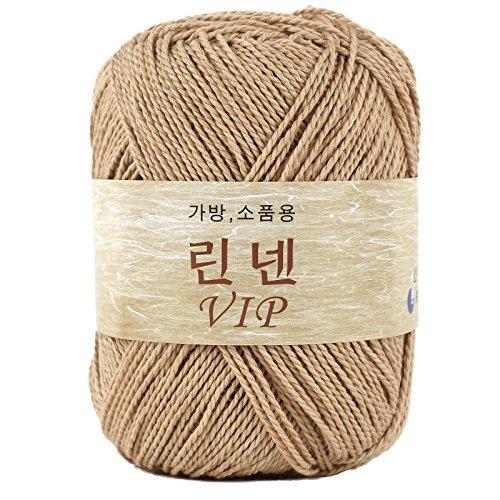 Linen VIP Crochet Making Bag Yarn, Beige