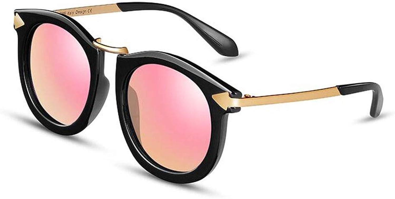 BYCSD Vintage Arrow Women Sunglasses Round Design Multicolor H427 (color   Black Pink)