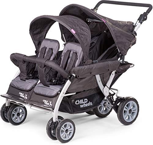 Childwheels Quadro kinderwagen, vierzitsbank, nieuw met autobrake
