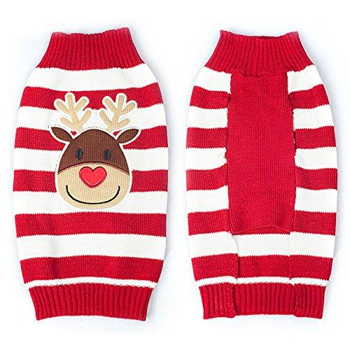 THEE Ropa para Mascotas Navidad Disfraz de Punto de Perro o Gato...