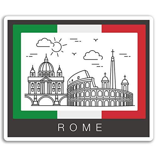 2 x 10cm Roma Italia de la bandera pegatinas de vinilo - del viaje del equipaje portátil # 17052 (10 cm de ancho)