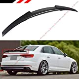 Cuztom Tuning Fits for 2017-2019 Audi A4 S4 SLINE B9 V Type M4 Style Carbon Fiber Highkick Trunk Lid Spoiler Wing