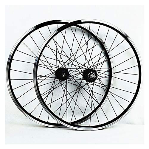 26 Pollici Set Ruote Mountain Bike MTB Mozzo Bicicletta Doppio Strato Cerchione in Alluminio Freno A Disco Cassetta V-Brake Rilascio Rapido 7-11 V (Color : B)