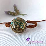 Orgonite Tree of Life bracelet, adjustable, with tiger's eye, turquoise, EMF protection, energy, well-being, balance, holistic therapy, reiki, yoga, meditation, astrology