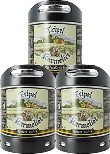 Bier PerfectDraft 3 x 6-Liter Fässer Tripel Karmeliet Bier - Triple. Zapfanlage für Zuhause. Inklusive 15euros Pfand.