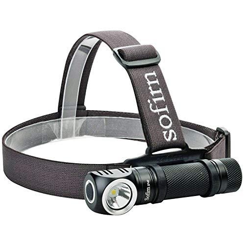 YSQSPWS Linterna Frontal Led Faro LED USB Lámpara de Cabeza Recargable Brillante Pesca al Aire Libre Faro de Faro Imán Cap de Cola (Body Color : 5300K, Emitting Color : with Battery)