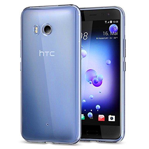 Tektide Case for HTC U11, [Invisible Armor] Xtreme Slim, Clear, Soft, Lightweight, Shock Absorbing TPU Rubber Bumper Case/Back Cover