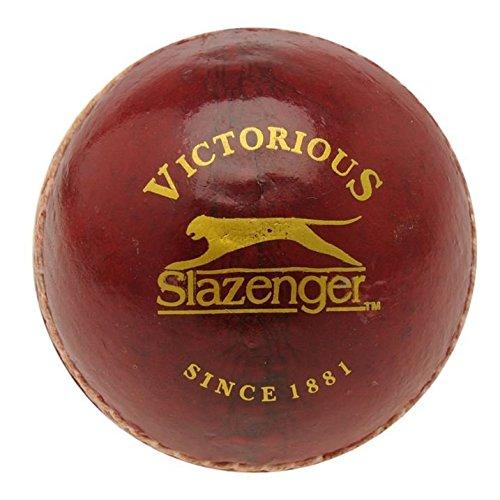 Slazenger League Cricketball, mit pflanzlich gegerbtem Leder und geformter Kork-Mitte, rot