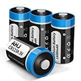 CR123A Lithium Batteries, 4 Pack 3V 1600mAh CR123 CR17345 Battery with 10-Year Shelf Life, UL Certification for Flashlight Toys Alarm System etc [Non-Rechargeable, NOT for Arlo]