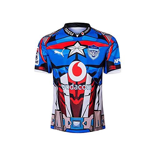 2019 Bull Hero Edition Rugby-Trikot, Blue Bulls Fußballtrikot Für Herren, Neues Memorial Edition Rugby-T-Shirt-M