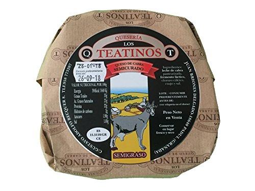 Queso de cabra artesanal sabor intenso y delicioso. Quesería Artesanal los teantinos. (varios formatos) Envió GRATIS 24 h . (Semicurado, 1Kg aprox.)