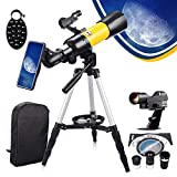 Upgrade Telescope for Kids Beginners Adults, 70mm Aperture 400mm Astronomical Refractor, Portable Telescope