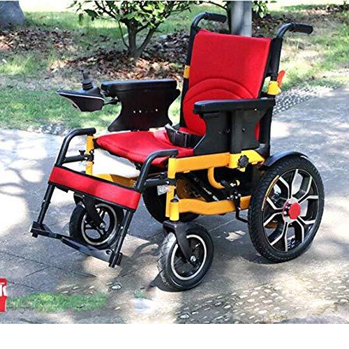 ZLL Medizinischer Reha-Stuhl, Rollstuhl, Elektrorollstuhl, Leicht Zusammenklappbarer Tragesitz Langlebige Elektrorollstühle Behinderte Senioren Outdoor Bequemes Ledersofa Rollstuhl 20A Lithiumbatteri
