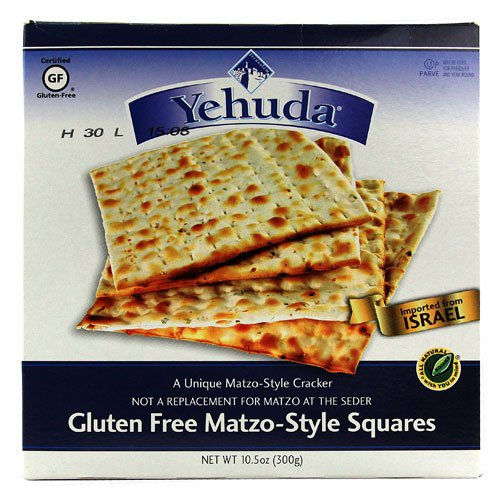 Yehuda Gluten-Free Matzo Squares, Original, 10.5 Ounce [6 Pack]