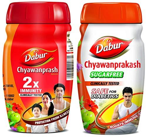 Dabur Chyawanprakash sugar free - 500 g & Dabur Chyawanprash...
