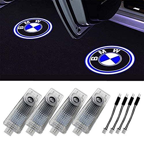 Grolish Car Door LED Lighting Logo Projectro Welcome Lights For 3/4/5/6/7/M/X/Z/GT Series(4-Pack)