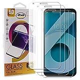 Guran 4 Paquete Cristal Templado Protector de Pantalla para LG Q6 / Q6 Plus Smartphone 9H Dureza Anti-Ara?azos Alta Definicion Transparente Película