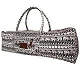 Kindfolk Yoga Mat Duffel Bag Carrier Patterned Canvas with Pocket and Zipper (Parade)