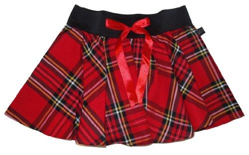 Minifalda skater Crazy Chick. tartán con lazo, 22 cm Red/Black Tartan