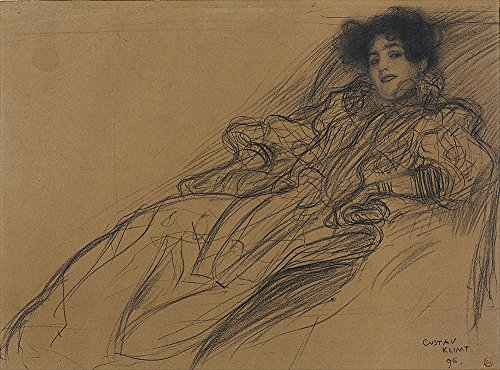 Spiffing Prints Gustav Klimt - Young Woman in an Armchair - Small...