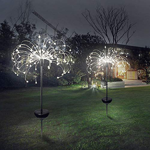 Led Solar Gartenleuchten für Gartendeko,150 LED Fernbedienung Weihnachten Starbright Lights Feuerwerk LED Dekoration Lampe Garden Lights, Powered Waterproof, Warm White.