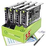 WORKDONE Confezione da 4 - Caddy Hard Disk 3,5 Pollici - Compatibile con Server dell PowerEdge - Manuale di Installazione - Etichette adesive – Cacciavite - Viti per Tray HDD
