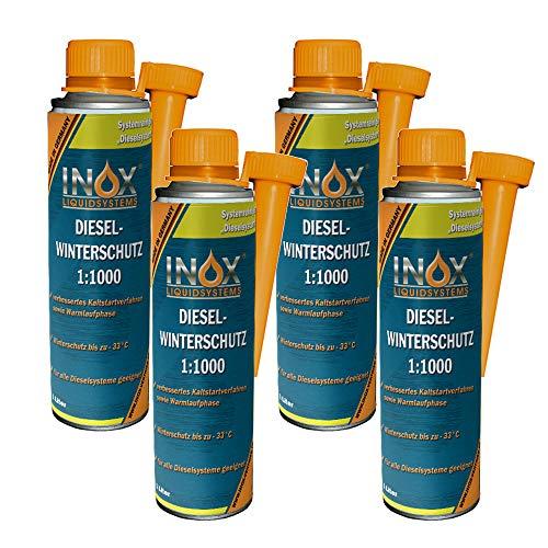 INOX® Diesel Winterschutz Additiv 1:1000, 4 x 1 Liter - Kraftstoffadditiv für Dieselmotoren