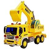 HERSITY Escavatore Camion Grande Macchinine Giocattolo con Luci e Suoni Veicoli da Costruzione Regalo per Bambini 3 4 5 Anni (1/16)