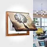 Cuadro En Lienzo Distribución Protección Caja Cubierta Decoración Ocultar Pinturas Medidor eléctrico Caja Decorativa Pintura Lienzo Pintura Pintura Decoración ( Color : Brown , Size (Inch) : 40x30cm )