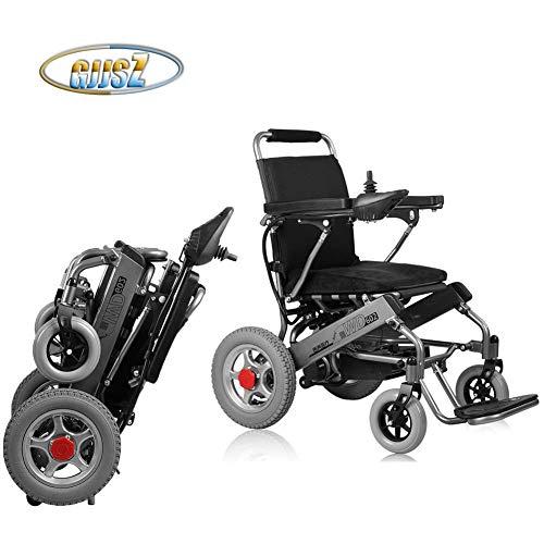 GJJSZ Silla de Ruedas eléctrica,Plegable para Ancianos,Coche de Ayuda para discapacitados,para Ancianos,Inteligente,Compacto,automático,portátil,Ligero,Scooter